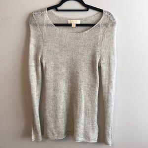 Michael Kors light grey sweater size S